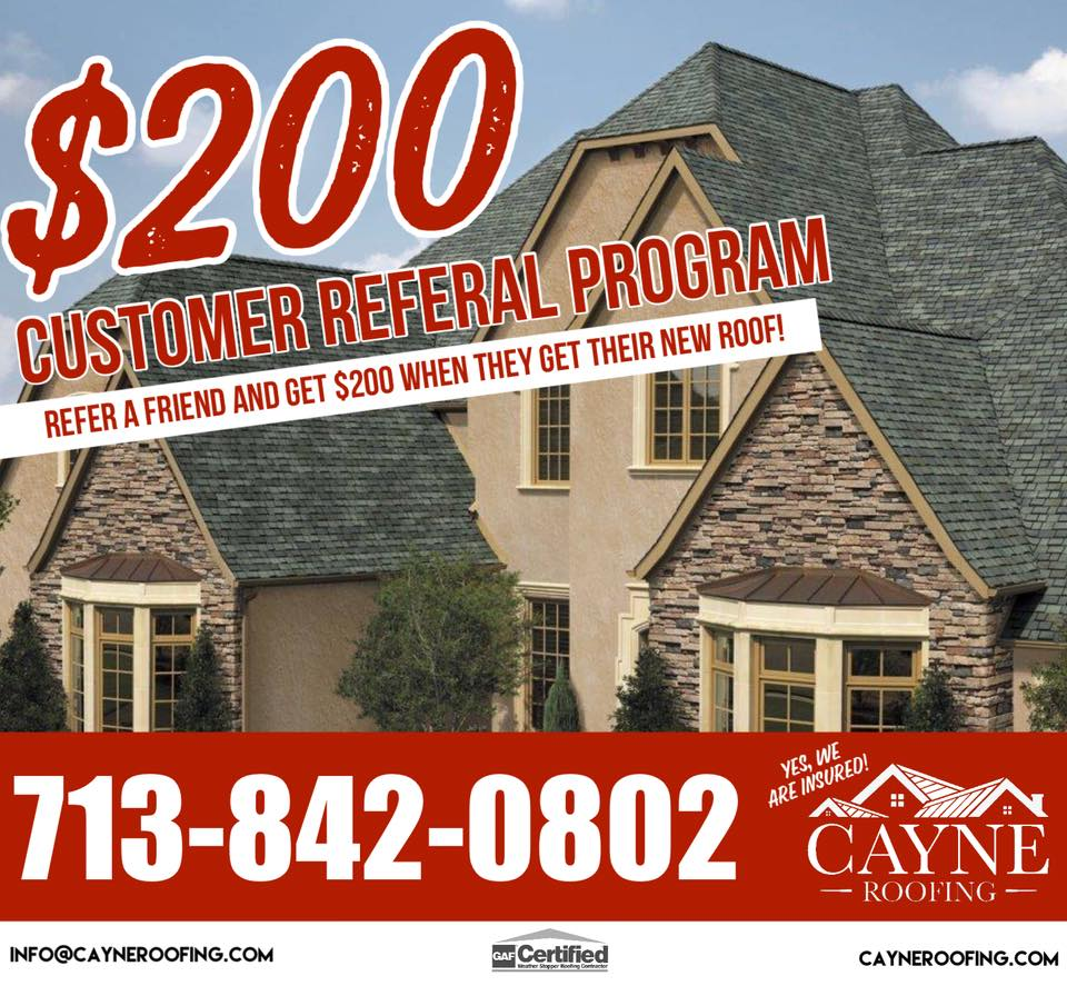 HAVE A FRIEND OR FAMILY MEMBER THAT NEEDS A NEW ROOF?